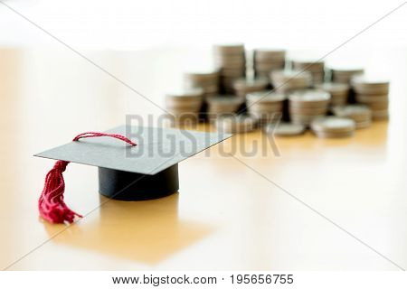 Saving every coins for education, graduation, study