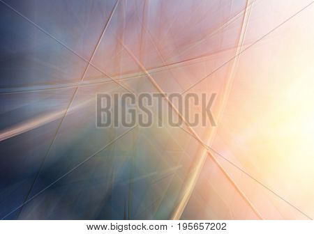 Abstract background texture with windows of modern office building and sunbeams