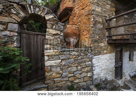 Old house in Chora of Alonissos island, Greece.