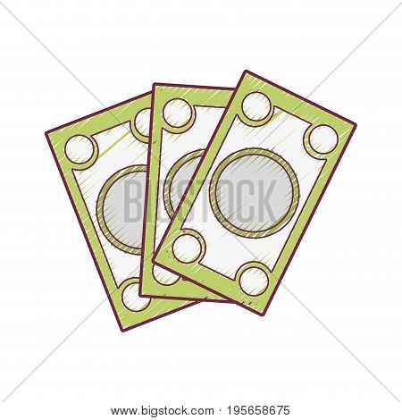 bills cash money to economy business vector illustration