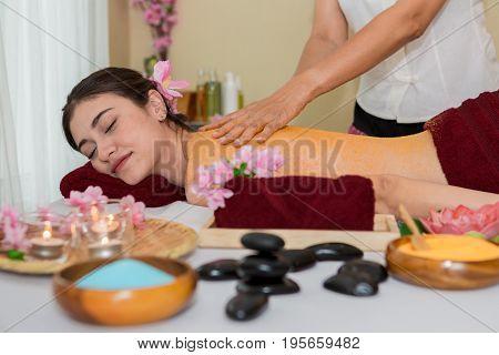 Thai Spa Therapy With Orange Salt Scrub