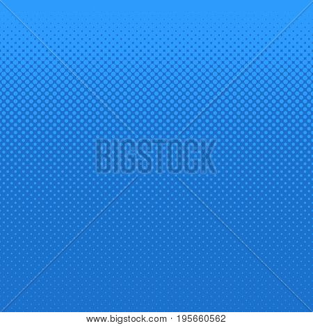 Blue abstract halftone dot pattern background - vector design from circles in varying sizes