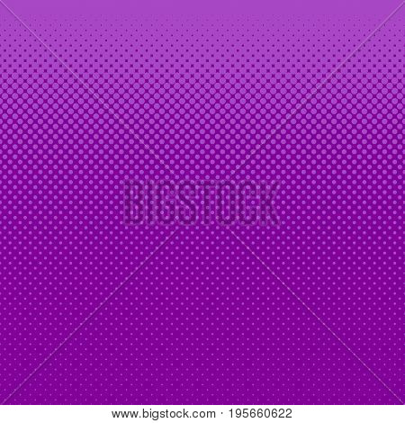 Abstract halftone dot pattern background - vector illustration from purple circles in varying sizes