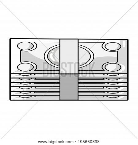 line bills cash money to economy business vector illustration