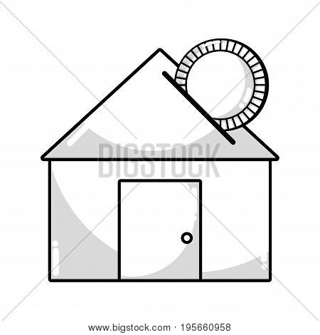 line house to save cash money economy vector illustration