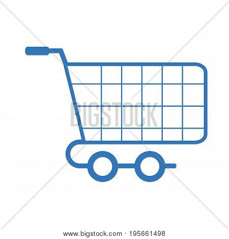 silhouete shopping car to website buy icon vector illustration