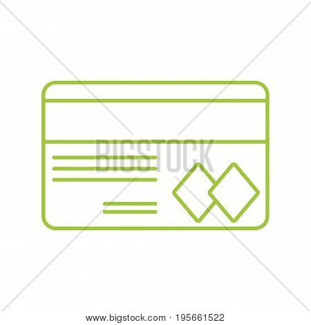 silhouette credit card to financial business vector illustration
