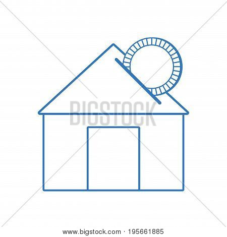 silhouette house to save cash money economy vector illustration