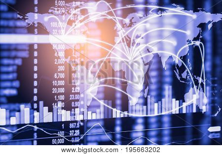 Index Graph Of Stock Market Financial Indicator Analysis On Led. Abstract Stock Market Data Trade Co