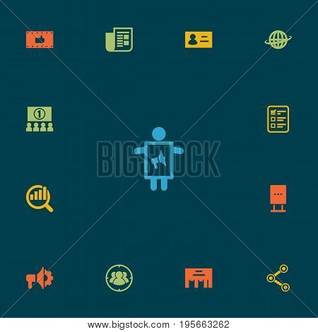 Set Of 13 Advertising Icons Set.Collection Of Inbox, Billboard, Market And Other Elements.