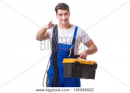 Man doing electrical repairs