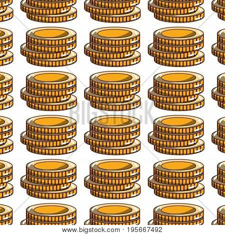 coins cash money to financial economy background vector illustration