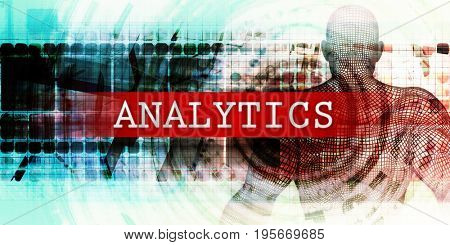 Analytics Sector with Industrial Tech Concept Art 3D Illustration Render
