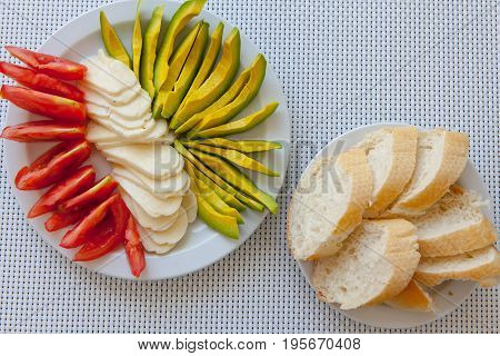 Summer Healthy Snack Served On Outdoor Porch Table