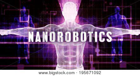 Nanorobotics as a Digital Technology Medical Concept Art 3D Illustration Render