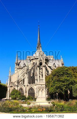 Famous Cathedral of Notre Dame de Paris, Paris, France