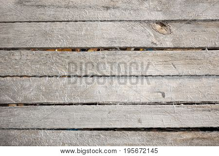 Wooden wall slats natural background or texture. Vintage background
