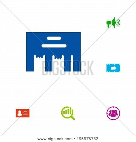 Set Of 6 Commercial Icons Set.Collection Of Inbox, Group, Like And Other Elements.