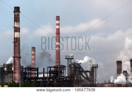 View Of The Metallurgical Plant. Manufacture Of Cast Iron And Steel.