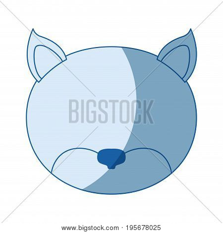 blue color shading silhouette faceless of cat vector illustration