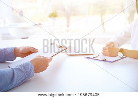 People on business meeting in office. Consulting service concept