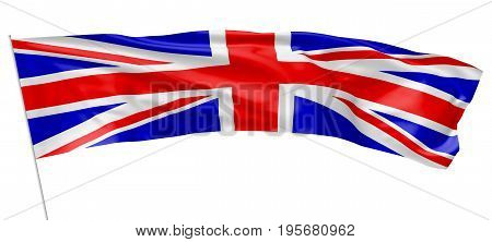 United Kingdom Long Flag Of With Flagpole