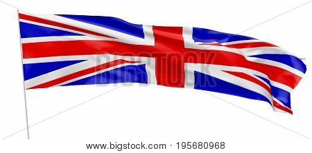 Long Flag Of United Kingdom With Flagpole