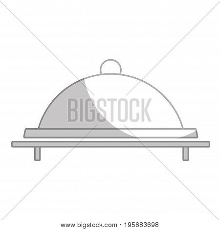 silhouette catering service to special celebration vector illustration