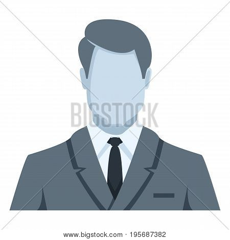 Vector Blue Flat Icon - Businessman In Suit