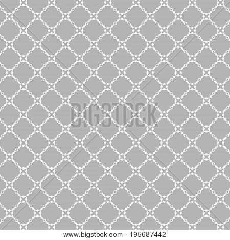 Lattice pattern with trendy lattice on a gray background. Repeating pattern background. Modern stylish texture. Repeating geometric tiles.