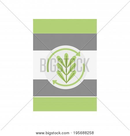tank with plant symbol to environment care vector illustration