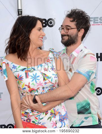 LOS ANGELES - July 15:  Amy Landecker, Jay Duplass at the