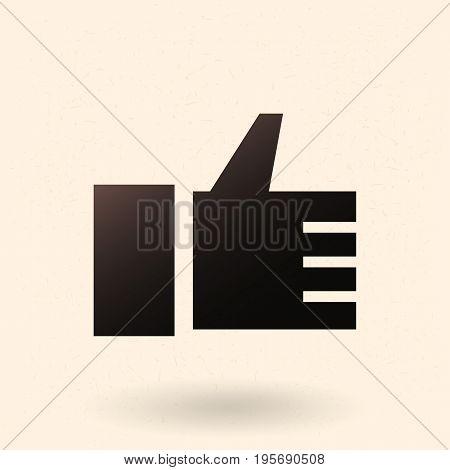 Vector Single Black Icon - Thumb Up