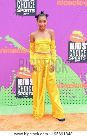 LOS ANGELES - July 13:  Kyla-Drew Simmons at the Nickelodeon Kids' Choice Sports Awards 2017 at the Pauley Pavilion on July 13, 2017 in Westwood, CA