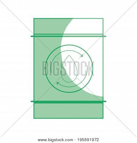 silhouette water tank to environment care vector illustration