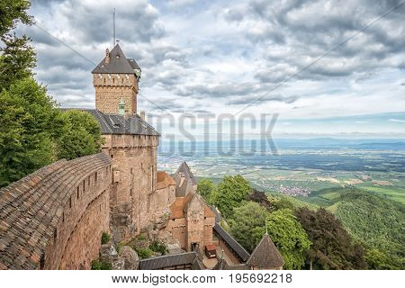 An image of a the Haut-Koenigsbourg in France
