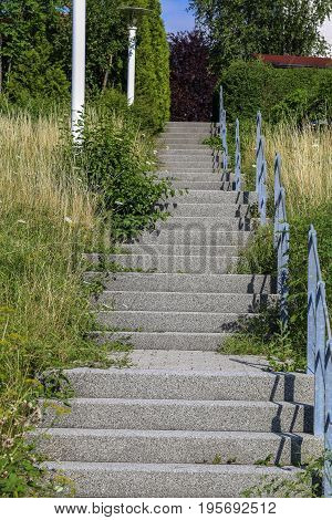 A Stairway to heaven / Steps of the stairs in the street