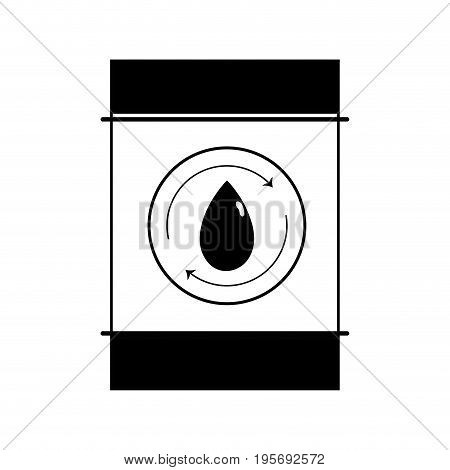 contour water tank to environment care vector illustration