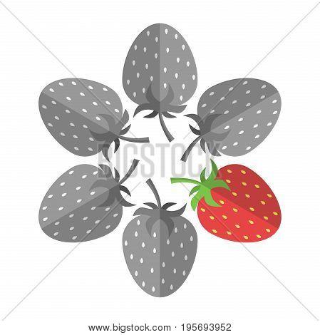 Unique Red Strawberry