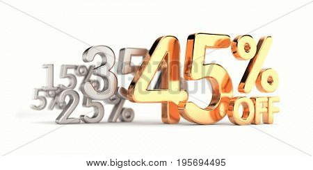 Big sale, clearance - metallic text. 3d illustration