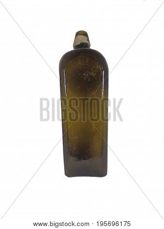 Antique gin bottle dug up from a disused Victorian tip in Cardiff, Wales