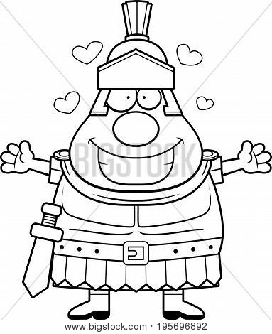 Cartoon Roman Centurion Hug