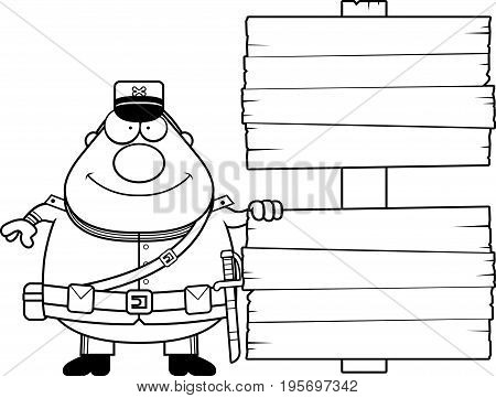 Cartoon Union Soldier Sign