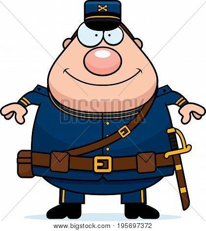 Happy Cartoon Union Soldier