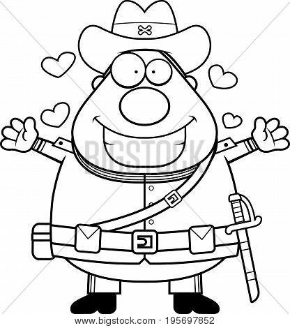 Cartoon Confederate Soldier Hug