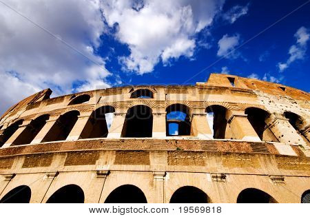 Dramatic view of the Coliseum, Rome, Italy