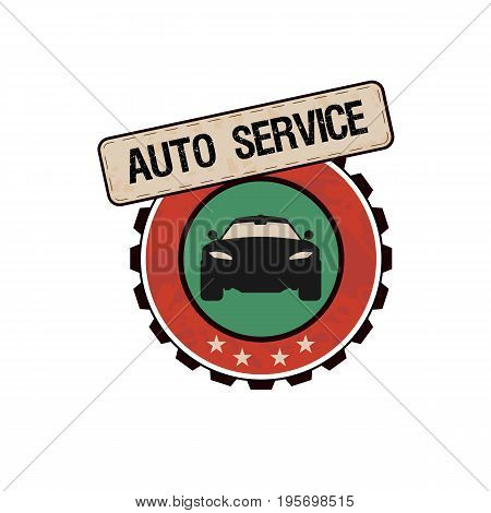car service labels emblems and design elements