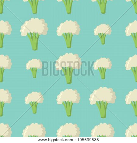 Broccoli vector seamless pattern. Cartoon vegetable stylish texture. Repeating broccoli vegetables seamless pattern background for eco bio vegetables design and web