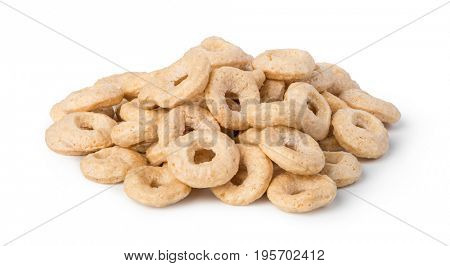 Oat Cereal rings isolated on white background