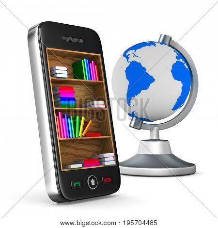 phone on white background. Isolated 3D illustration
